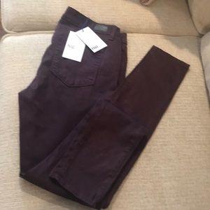Paige Wine Verdugo Ultra Skinny Jeans sz 31 NWT